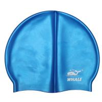 China Fluorescent Blue Silicone Swimming Caps Highly Resilient With Personalized Logo wholesale