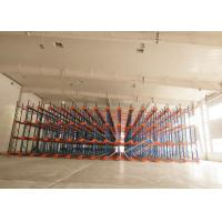 China 1000 Depth Shuttle Metal Pallet Racks Remote Controlled For Frozen Meat / Beverage Storage wholesale