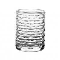 China Transparent Small Candle Jars With Pattern / Glass Candle Holder For Candle Wax wholesale
