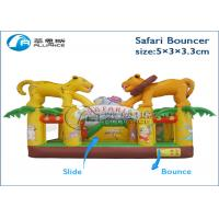China birthday party commercial rental party games safari bouncer inflatable trampoline wholesale