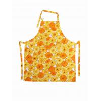 Sunflower Printed Bib Cotton Kitchen Apron Personalized Aprons For Women