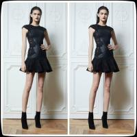 China Black Sheer Plus Size Cocktail Party Dresses , Zuhair Murad Party Gowns wholesale