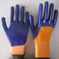China violet nitrile coated working gloves NG1501-13 wholesale