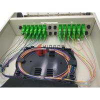 Buy cheap Wall Mounted 24 Cores Optical Distribution Box Completed SC Couplers Pigtails Cold Rolled Steel from wholesalers
