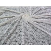 Ivory Floral Cotton Nylon Lace Fabric With AZO Free Dyeing For Lady Dress CY-DK0029