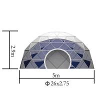 China 5m Large Lightweight Geodesic Tent With Double Coated PVC Fabric Covers wholesale