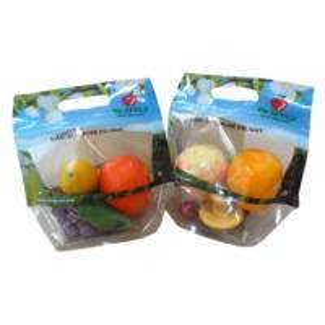 China OPP Plastic Fresh Fruit Bags Transparent Plastic Package Zipper Containers PET wholesale