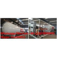 China customized 10tons skid lpg gas station with lpg gas dispenser of 2 filling nozzles for sale, skid lpg tank for sale wholesale
