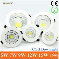 China 2015 Newest Dimmable LED Recessed Downlight 5W 7W 9W 12W 15W COB Chip LED Ceiling light Spot Light Lamp White/ Warm wholesale