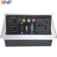 Buy cheap Silver Color Desk Pop Up Power Socket With RCA Interface 3mm Panel Thickness from wholesalers