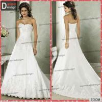 China Pretty Ivory Lace Appliqued Open Back Court Train Wedding Dresses From China on sale