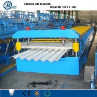 China Auto Roofing Sheet Corrugated Roll Forming Machine / Glazed Roof Panel Making Machines wholesale
