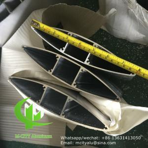 China Manufacture Architectural aluminium facade louvers sun louver fixed louver Aerofoil louver wholesale