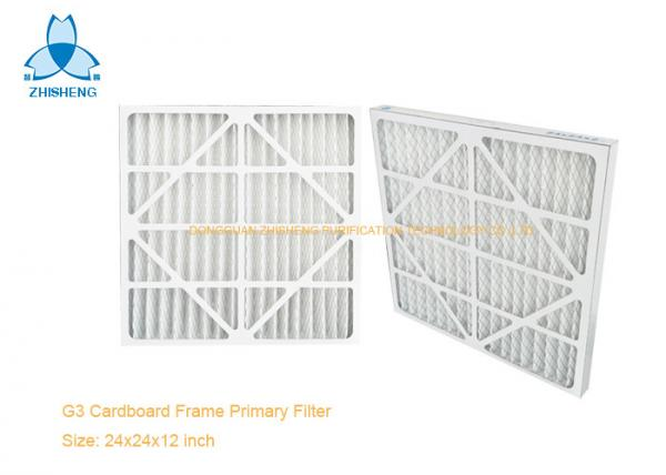 Quality Pleated AC Furnace Pre Air Filter For Air Return To Dust Removal 90% 5 Um Particles , Paper Frame for sale