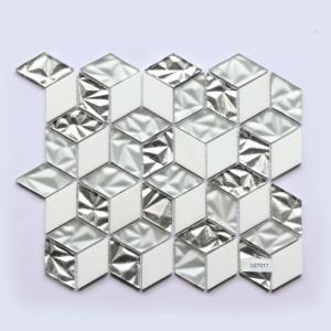 China Glass Mosaic Subway Tile 300X300 Glossy Glass Hexagon Porcelain Mosaic Tile on sale