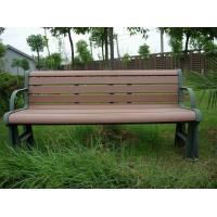 China Ecological Prefab Outdoor Park Benches , Outdoor Patio Bench With Steel Frame wholesale