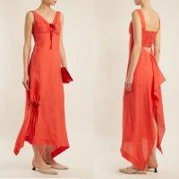 China Women Clothing Summer Sleeveless With V neck Linen Maxi Dresses For Ladies on sale