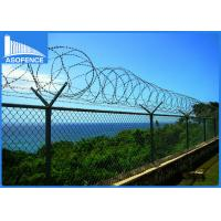 Buy cheap Galvanized Steel Coiled Razor Wire 0.35mm - 0.6mm Blade Thickness For Safety from wholesalers