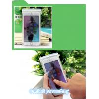 EVA Plastic Pouches Packaging , frosted slider zipper bag for cell phone
