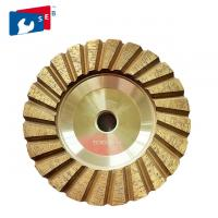 China 4 inch Cyclone Shape Diamond Cup Wheel with Wet Grinding for Concrete Floor on sale
