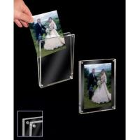 China Hanging Transparent Acrylic Photo Frames Plastic Brochure Holders With Led Light wholesale