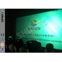China Genuine Leather Convenient 6D Movie Theater With 3DOF Motion Chairs wholesale