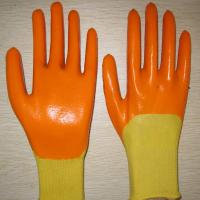 China yellow PVC coated working gloves PG1511-7 wholesale