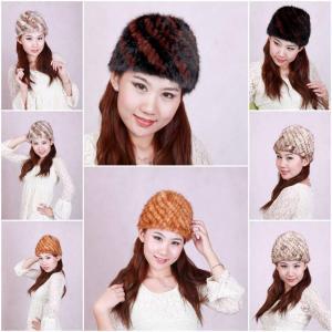 Buy cheap Women'sFur Hat Mink Fur Hats Mink Fur Cap Mink Fur Headgear Fur Chapeau 4 Colors Sable Fur Hats from wholesalers