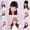 China Women'sFur Hat Mink Fur Hats Mink Fur Cap Mink Fur Headgear Fur Chapeau 4 Colors Sable Fur Hats wholesale