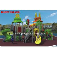 China Sport Series Playground Equipment Slides , Recycled Play  Equipment For Children wholesale