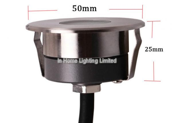 Quality Mini Round Stainless Steel LED Underground Light for Deck , 3W LED Step Light for sale
