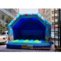 China Blue Small Inflatable Air Bouncer For Trampolines And Structures / Inflatable Jumping Castle on sale