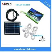 China Multi-function portable solar led light 2 bulb with mobile phone charger solar home kits indoor lighting wholesale