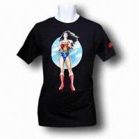 China Men's T-shirt, Made of Cotton, Various Sizes are Available wholesale