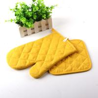 Yellow Color AZO Free Customized Logo Printed Kitchen Oven Mitt