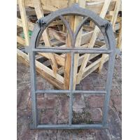 China Tall Cast Iron Arched Casement Windows / Folding Cast Iron Mirror Frames wholesale
