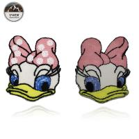 China Fashionable Duck Custom Chenille Patches / Disney Character Patches Sew On Style wholesale