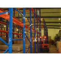 China Push Back Drive-in Pallet Racking 3.9m Beam For Logistic , Blue / Orange on sale