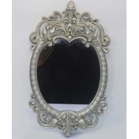 China Oval Silver Glass Resin Wall Mirror With Vintage Women Leaf Customized Size wholesale