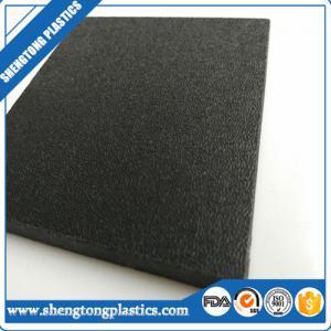 China virgin high density polyethylene HDPE orange peel black sheet supplier wholesale