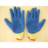 China 10G 5 Poly/Cotton strands knit liner latex coated gloves on sale