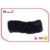 China Zebra Pattern Fur Cowl Scarf Black Satin Lining Girls Snood Scarf wholesale