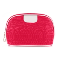 China Recyclable Home Storage Zipper Closure PU Cosmetic Bag wholesale