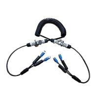 China IP67 Trailer Spring Coiled Extension Cord Electrical With 7 Pin Power Signal Plug wholesale
