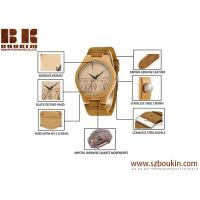 China Wholesale Cheap Fashion Wooden Watch Leather Strap Unisex Watch wholesale