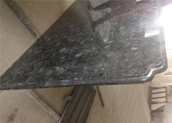 Quality Precision Prefab Kitchen Countertops Natural Volgua Blue Granite Slab for sale