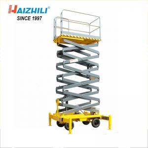China Movable Scissor Lift Aerial Work Platform , 480kg 12 Meter Electric Scissor Lift on sale