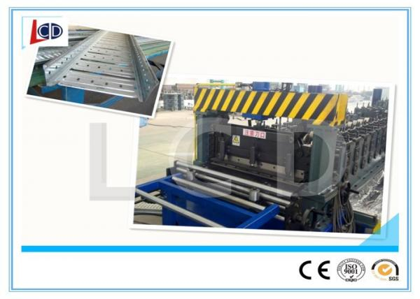 Quality Auto Adjustable Cable Tray Making Machine , Cold Roll Forming Machine With Double Uncoiler for sale