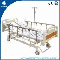 China Three Functions Electric Hospital Beds With 6 - rank Al - Alloy Side Rails wholesale