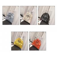 China Hot Stamping 0.25MM PVC Handbags With Two Braid Hands wholesale